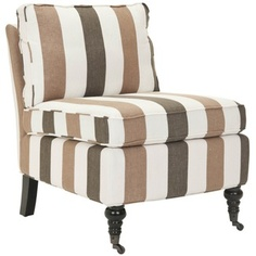 Safavieh Zoey Armless Club Chair in Multi Stripe
