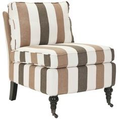 Safavieh Zoey Armless Club Chair in Multi Stripe