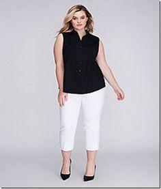86f2e4d5a707d Woman s PLUS Size Capri White