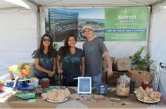 Our team members educating the community about food composting at the Earth Fair and beautiful Balboa Park!