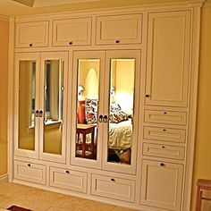adore this handmade custom builtin his u0026 hers closets master closet remodel idea - Closet Doors Sliding