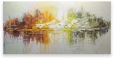 Oil Painting Abstract Modern Contemporary Wall Decor Handmade Art on Canvas Color Island