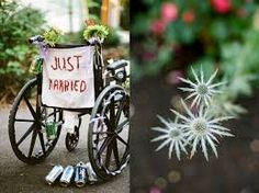 Wedding themed wheelchairs and wheelchairs at weddings