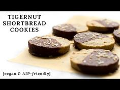 Tigernut Flour Shortbread Cookies {vegan, paleo, AIP-friendly}