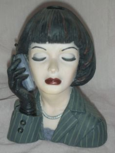 "Cameo Girl Headvase ""Eve Dressed for Success"" Vintage"
