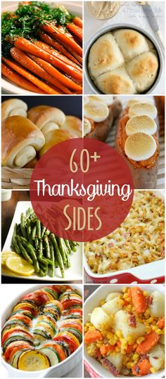 60+ Thanksgiving side dish recipes including veggies, potatoes, and breads! See it on { lilluna.com }