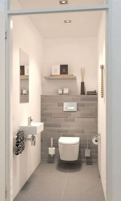 Space Saving Toilet Design for Small Bathroom is part of Luxury bathroom tiles In the event that you are one of the a huge number of individuals around the globe who needs to bear the claustrophobia - House Bathroom, Bathroom Inspiration, Space Saving Toilet, Bathrooms Remodel, Bathroom Decor, Small Bathroom Remodel Designs, Small Toilet Room, Small Bathroom Remodel, Luxury Bathroom Tiles