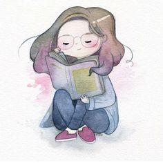 Girl Reading Book, Reading Art, Book Drawing, Lectures, Children's Book Illustration, I Love Books, Book Nerd, Cute Drawings, Book Worms