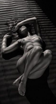 shadows blinds lines art nude minimal monochrome fashion photography dark blackandwhite female portrait