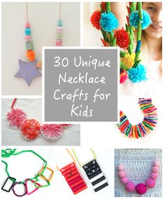 Necklace crafts are always a favorite here at our house- they can be as simple or intricate as you want, and the kids always get a kick out of wearing their finished projects. Not only are homemade necklaces fun for kids to make, but they actually provide all kinds oflearning opportunities too. Followour Crafts for …
