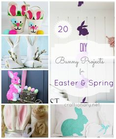 Make Easter bunny for Spring (20 DIY Ideas) - Craftionary - http://www.craftionary.net/make-easter-bunny/