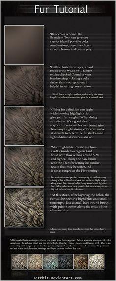 Fur Tutorial by *Tatchit on deviantART