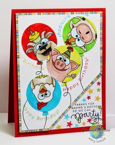 StampNation's 4th Birthday Bash ~ 4 Party Animals by Allison Cope
