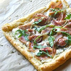 Fig, Ricotta, and Honey Tart (with proscuitto!) by The Wimpy Vegetarian. Just in time for FIG SEASON!