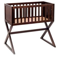 babyletto Bowery Bassinet, Espresso Bassinets bring a truly charming and joyous tone to the home, while offering wonderful convenience. The Bowery Bassinet is Wood Bassinet, Best Bassinet, Bassinet Ideas, Baby Cradle Wooden, Wood Cradle, Cradles And Bassinets, Baby Cradles, Mini Crib, Convertible Crib