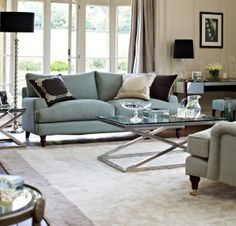 Add a duck egg coloured sofa to your living room with the Isla sofa. It's refined and luxurious, yet comfy, and is finished off with  insanely smart turned wooden legs. http://www.sofa.com/shop/sofas/isla