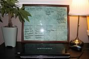 Make your own customized dry-erase board.