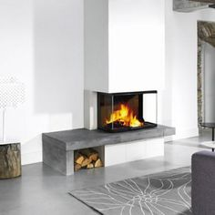 8 tips som gir hjemmet en touch av luksus Fireplace Update, Open Fireplace, Fireplace Remodel, Fireplace Design, Wood Fireplace Inserts, Scandinavian Fireplace, Elegant Homes, Interior Exterior, Home Fashion