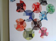 .Flowering Snowball block; Thirty Something quilt in Quiltmaker J/A 2009
