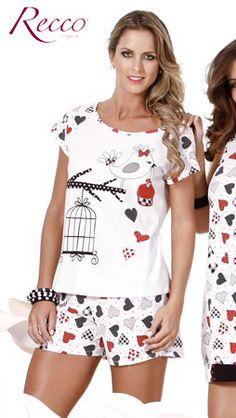 Pijama de Malha 100% Algodão - Cod. 6087 - Recco