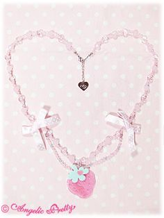 Strawberry-chan Polka Dot Necklace