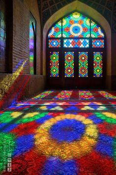 The Nasir-Ol-Molk Mosque in Shiraz, South of Iran.