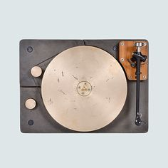 Cast iron & bronze turntable by Fern & Roby