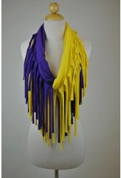 $25 Fringe Gameday Scarf {available in MANY color options}  I could totally make this myself!!!