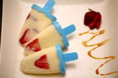 Home Made Yoghurt Pops Recipe - Sophie Guidolin Clean Eating Recipes, Raw Food Recipes, Healthy Recipes, Eating Raw, Healthy Eating, Good Food, Yummy Food, Fun Food, Healthy Treats