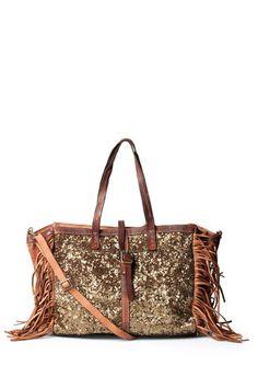 CATERINA LUCCHI Ledertasche mit Pailletten-Details bei myClassico - Premium Fashion Online Shop