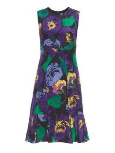 Jana Bancroft-print silk dress   Erdem   MATCHESFASHION.COM UK