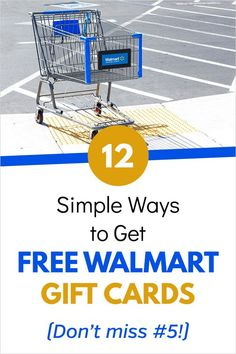 12 Simple Ways to Get Free Walmart Gift Cards - Ways To Save Money, Money Saving Tips, Managing Money, Money Tips, Frugal Living Tips, Frugal Tips, Financial Apps, Early Retirement, Gift Cards