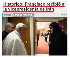 esto se está poniendo cada vez peor: el papa se acerca a irán...