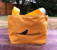 bird on branch insulated lunch bag, dozy doats totes    holds a six pack, making it the most perfect bag ever.