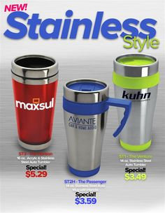 NEW! Stainless Steel Auto Cups From Garyline!