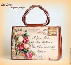 Купить Письмо в Милан - бежевый, цветочный, натуральная кожа, агат, жемчуг, авантюрин