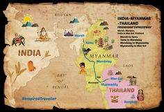 The 3200 km long India-Myanmar-Thailand trilateral highway will be fully operational by November this year. #inspiredtraveller #travel