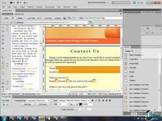 Dreamweaver Training Tutorial - Creating & Understanding Forms -- Part 3 Css Style, Adobe Dreamweaver, Web Forms, Tutorials, Coding, Training, Create, Work Outs, Excercise