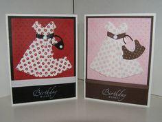 origami dress cards by k8nvanstamper - Cards and Paper Crafts at Splitcoaststampers
