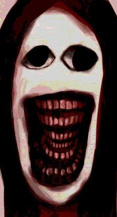 My, all those teeth Creepy Faces, Creepy Drawings, Arte Horror, Horror Art, Image Triste, Satanic Art, Arte Obscura, Creepy Horror, Creepy Pictures
