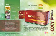 33 Página #Oxy force Bebida rica en aminoácidos y proteína vegetal y a la vez muy energética. Su contenido aporta la ingesta diaria recomendada de L-arginina, taurina, L-carnitina y L-glicina. Fórmula combinada de vitaminas C, E, #betacaroteno, selenio, polinicotinato de cromo, #coenzima Q10 y extracto de ginseng. #Oxynet #músculos Mayo, Vitamin C, Nervous System, Drink, February