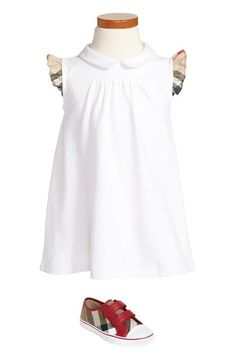 Too cute! Burberry polo dress and sneaker.