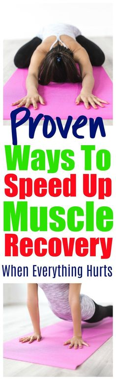 AMAZING  - Proven Ways To Speed Up Muscle Soreness Recovery - Are you sore after working out? Does it hurt to move?  Here are 9 tips for before, during and after your workout to speed up muscle soreness recovery. No pain no gain.   #fitness #health #weightloss