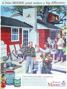 Reno Paint Mart >> Benjamin Moore ad- 1960 in 2019 | Vintage advertisements, Benjamin moore colors, Benjamin moore ...