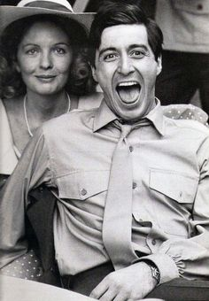 """thegoldenyearz: """"Diane Keaton with Al Pacino on the set of The Godfather, by Harry Benson, 1972 """" The Godfather 1972, The Godfather Part Ii, Harry Benson, Don Draper, Marlon Brando, Joseph Morgan, Robert Downey Jr, Young Al Pacino, How To Be Single Movie"""