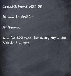 CrossFit home WOD  Written by RY