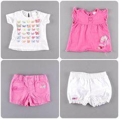 Shorts + camiseta= el look del verano, también para las más peques http://www.quiquilo.es/44-3-meses
