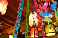 Bright Bamboo Chains perfect for Holiday Decorations.     Eco-Luxury for Home & Garden  www.BigGrassLiving.com