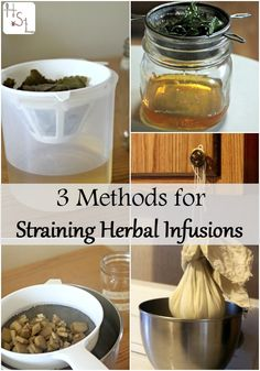 Get all those drinks, oils, and medicines ready to use with these 3 methods for straining herbal infusions.