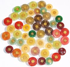 Lot of 50 Bohemian Buttons with Shanks Fancy by scrapitsideways, $4.50